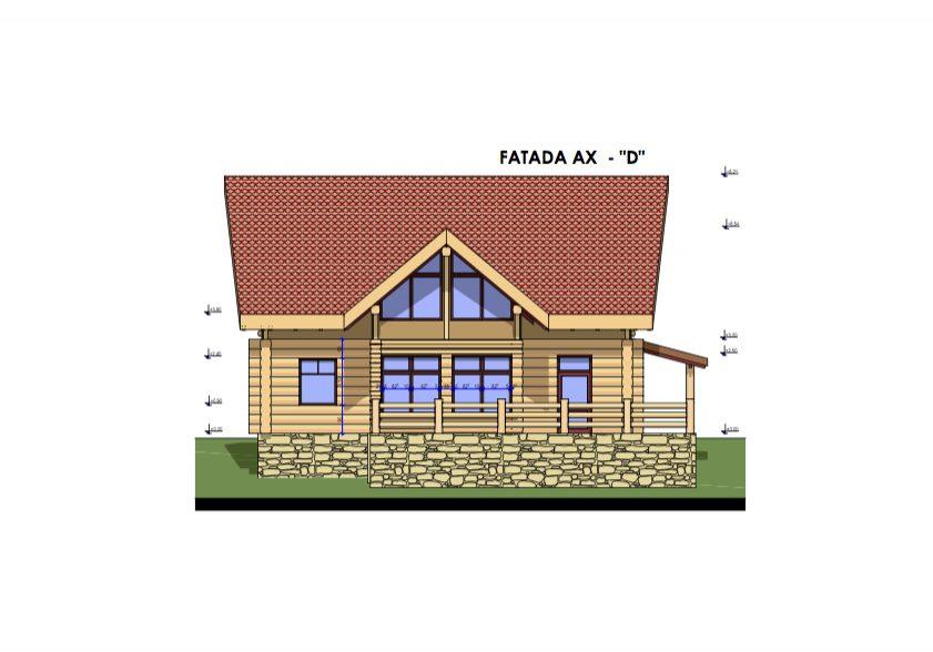 Casa Luca Liviu fatada ax D,  1-100